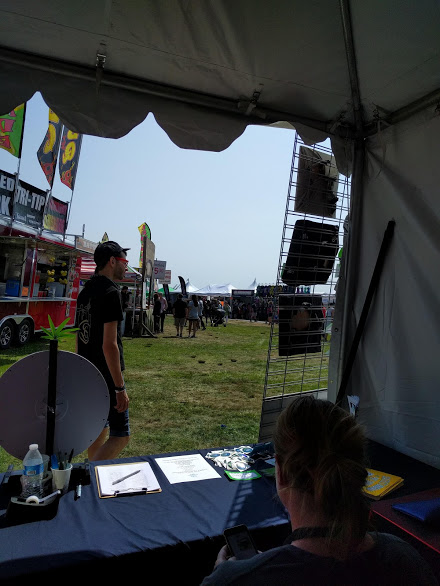 Working the fest